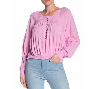 Free People Prairie Henley Top Light Lilac